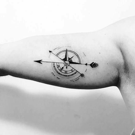 50 Kleine Kompass Tattoos Fur Manner Navigation Ink Design Ideen