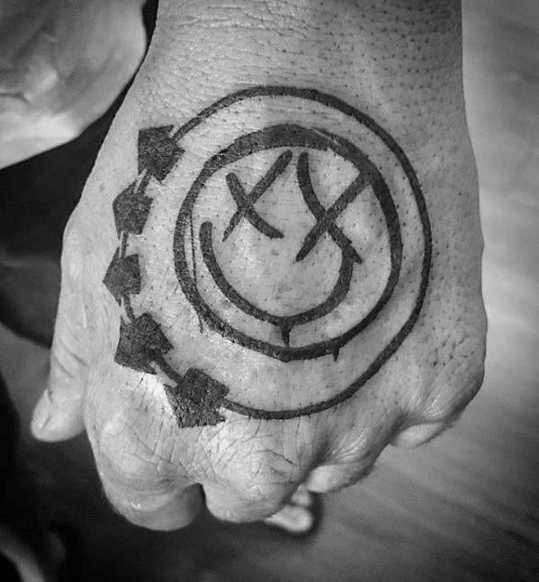 50 Blink 182 Tattoos für Männer - Rock Band Ink Ideen