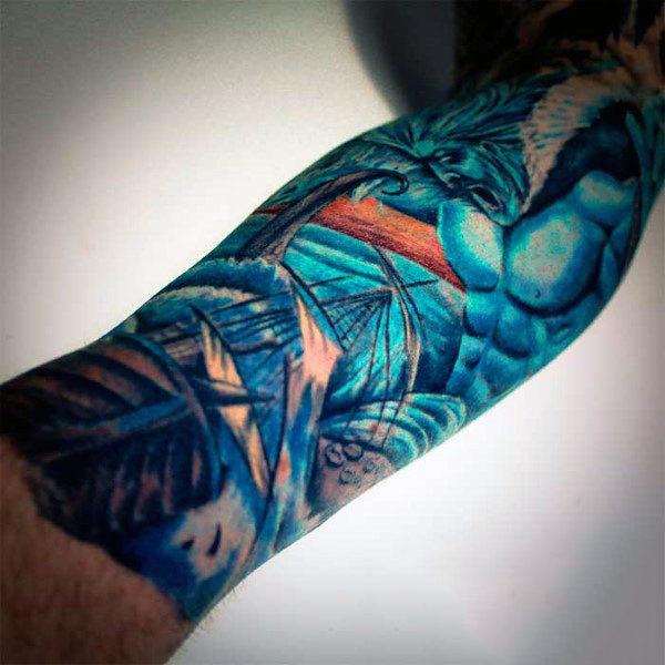 30 Poseidon Tattoo Designs für Männer - griechischer Gott des Meeres
