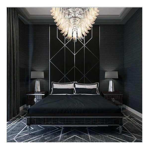 Schlafzimmer Ideen Für Männer: Top 50 Besten Schwarzen Schlafzimmer Design-Ideen