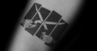 50 Black Flag Tattoo Designs für Männer - Rock Band Ink Ideen