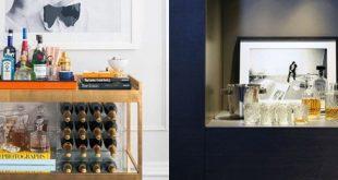 Top 70 besten Home Mini Bar Ideen - Coole Getränke Speicherplätze
