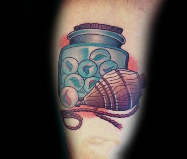 20 Marmor Tattoo Designs für Männer - Glaskugel Tinte Ideen