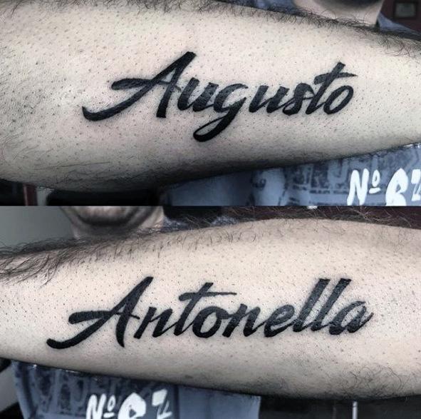 Namen Tattoo Unterarm Männer Tattoo Auf Unterarm 2019 02 19