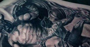 30 David und Goliath Tattoo Designs für Männer - Manly Ideen