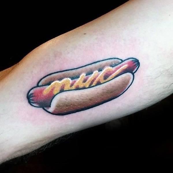 40 Hot Dog Tattoo Designs für Männer - Food Ink Ideen