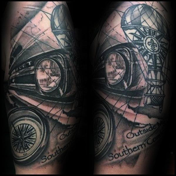 60 Chevy Tattoos Für Männer Cool Chevrolet Design Ideen Mann