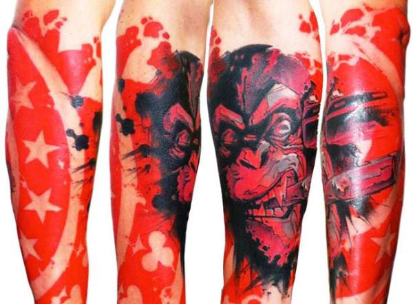 70 Red Ink Tattoo Designs für Männer - Maskulin Ink Ideas