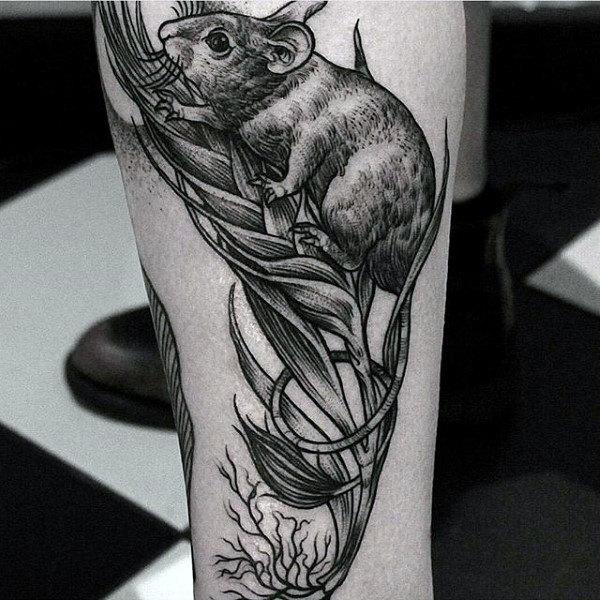 70 Ratten-Tätowierungs-Entwürfe für Männer - männliche Tinten-Ideen