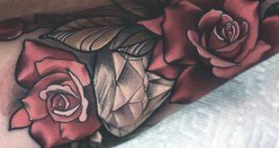 70 Diamant Tattoo Designs für Männer - Edelsteintinte