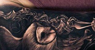 50 Eule Ärmel Tattoos für Männer - nächtliche Vogel Design-Ideen