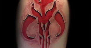 40 Mandalorian Tattoo Designs für Männer - Star Wars Ink Ideen