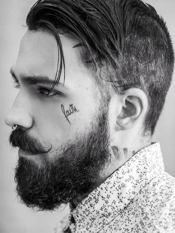 90 Face Tattoos für Männer - Maskuline Design-Ideen