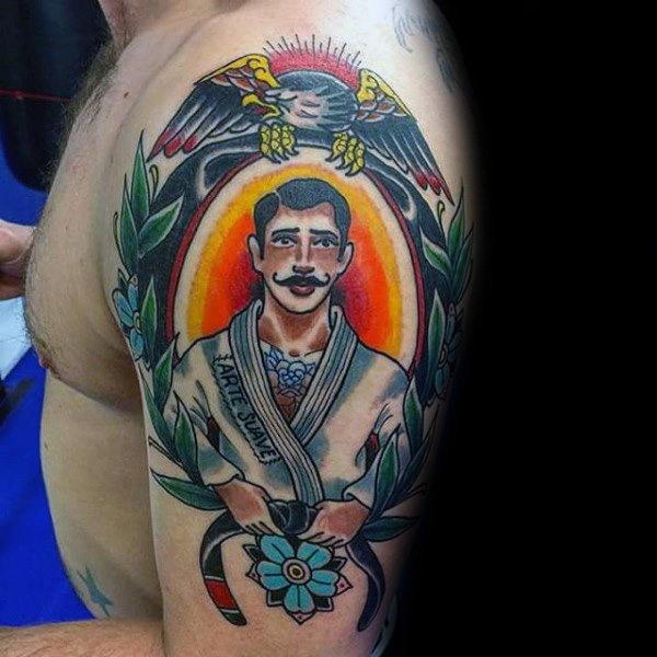 70 Jiu Jitsu Tattoos für Männer - männliche Kampfkunst Design-Ideen