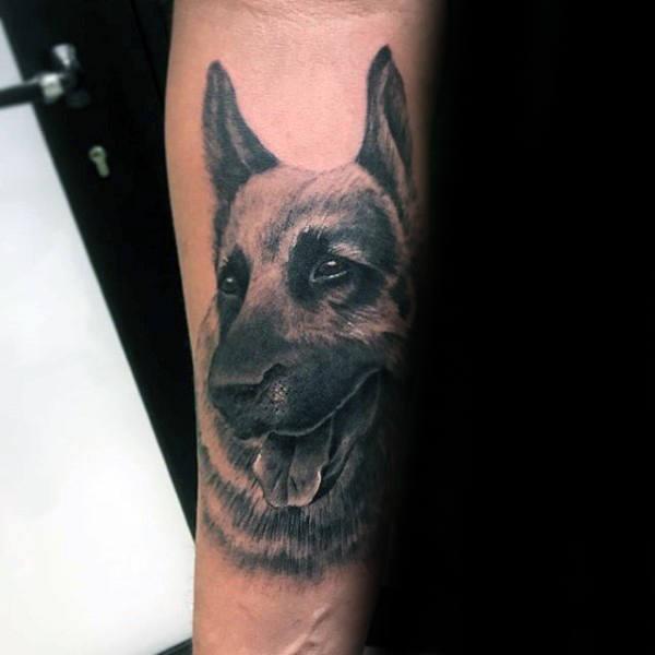 30 Deutscher Schäferhund Tattoo Designs für Männer - Hund Tinte Ideen
