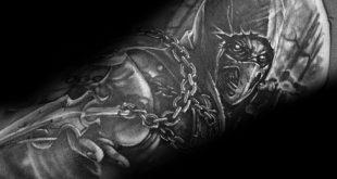 70 Mortal Kombat Tattoos für Männer - Gaming Ink Design-Ideen