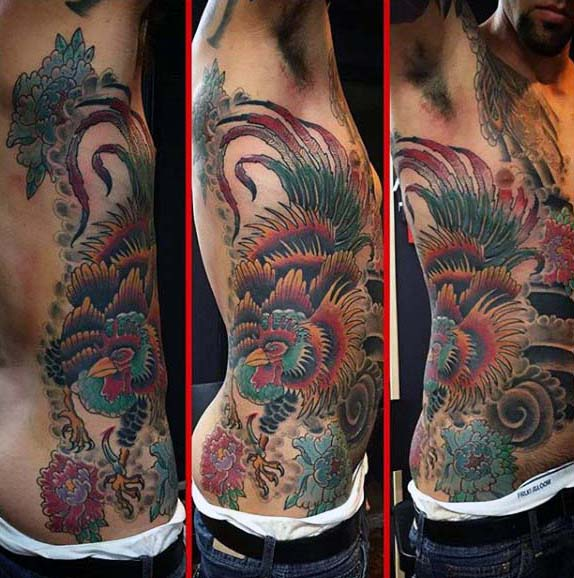 100 Hahn Tattoo Designs für Männer - Break Of Dawn Ink Ideen