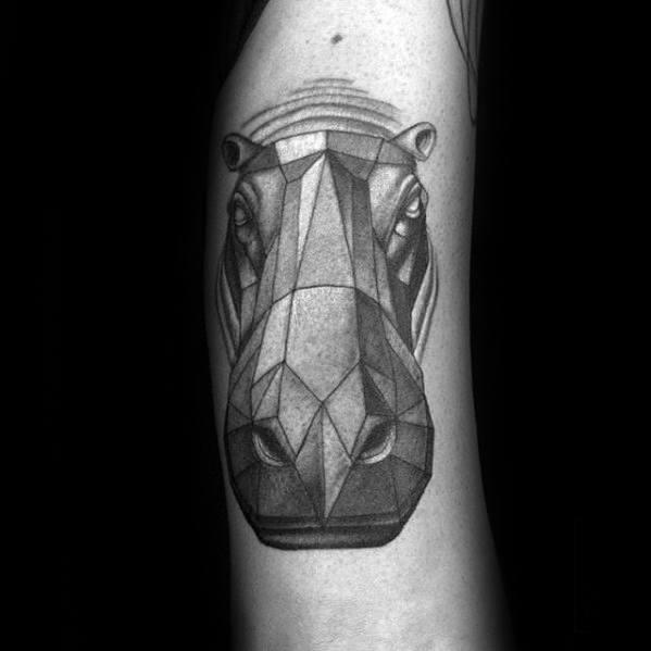 60 Hippo Tattoo Designs für Männer - Animal Ink Ideen