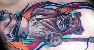 60 Ewok Tattoos für Männer - Star Wars Ink Ideen