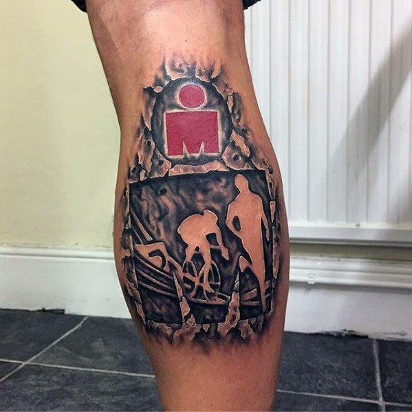 80 Ironman Tattoo Designs für Männer - Triathlon-Tinten-Ideen