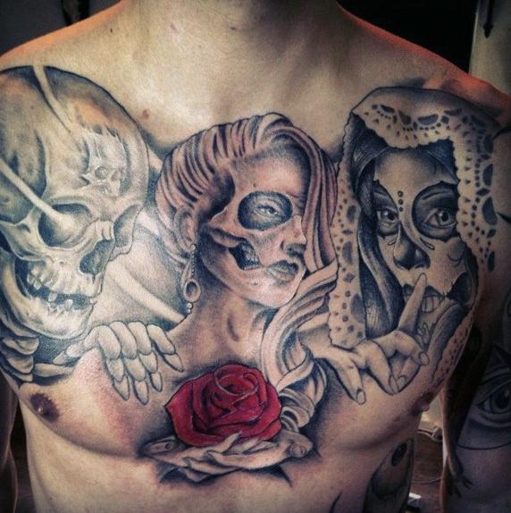 70 Tag der Toten Tattoos für Männer - mexikanische Urlaub Designs