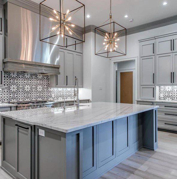 Top 50 beste graue Küche Ideen - raffinierte Interior Designs