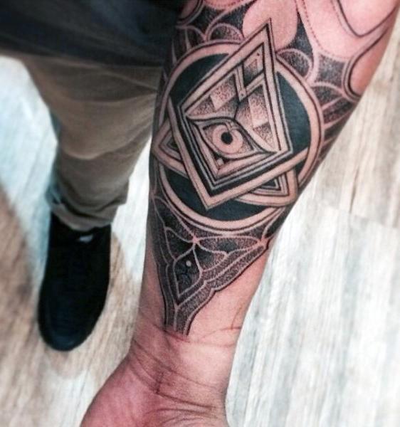 90 Dreieck Tattoo Designs für Männer - Manly Ink Ideen