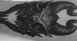 60 Dragon Skull Tattoo Designs für Männer - Manly Ink Ideen