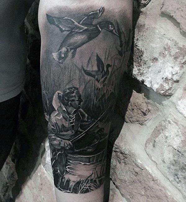 30 Holz Ente Tattoo Designs für Männer - Carolina Tinte Ideen