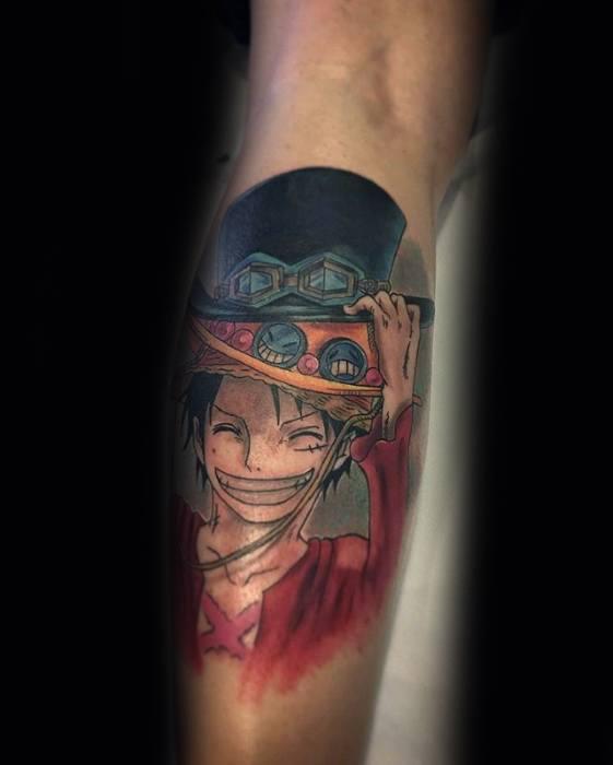 70 One Piece Tattoo Designs für Männer - japanische Anime-Tinten-Ideen