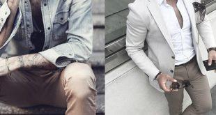 Was zu Khaki Hosen für Männer - 50 Male Outfit Styles tragen