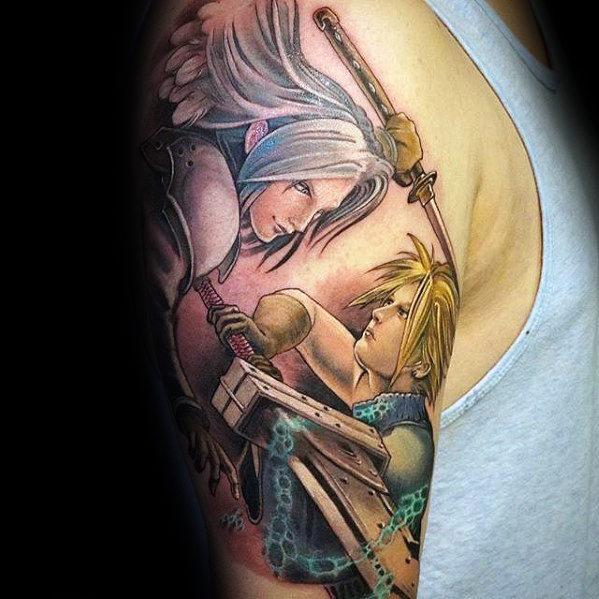 80 Final Fantasy Tattoos für Männer - Videospiel-Design-Ideen