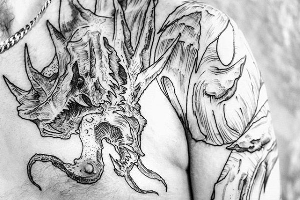 40 Gyarados Tattoo-Designs für Männer - Pokemon Ink Ideas
