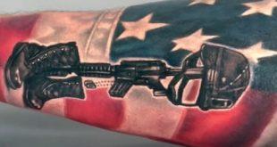 50 gefallene Soldat Tattoo Designs für Männer - Memorial Ideen