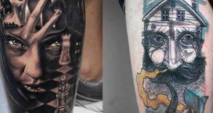 Top 75 beste Bein Tattoos für Männer - Tinte vom Knie bis zum Knöchel