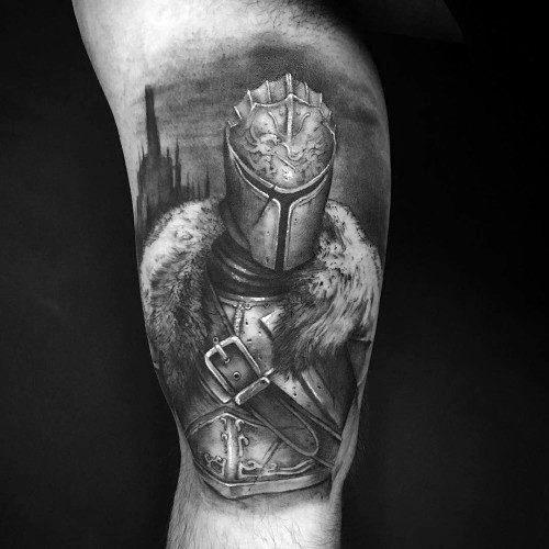 70 Dark Souls Tattoo-Designs für Männer - Videospiel-Ideen