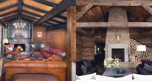 Top 70 besten Stein Kamin Design-Ideen - rustikale Rock Interiors