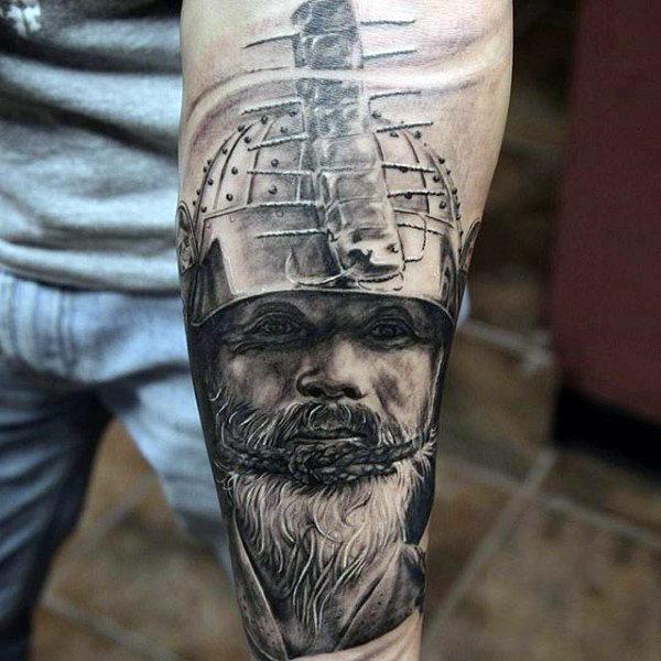 75 innere Unterarm Tattoos für Männer - männliche Design-Ideen