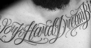 30 Traum Tattoo Designs für Männer - Word Ink Ideen