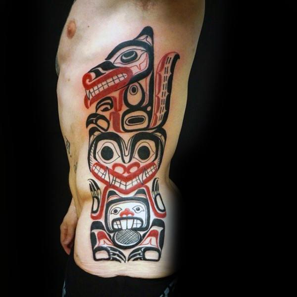 Top 40 besten Tribal Rib Tattoos für Männer - Manly Ink Design-Ideen