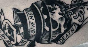 70 Kaffee Tattoo Designs für Männer - koffeinhaltige Tinte Ideen