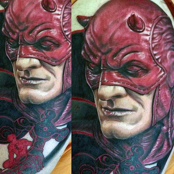 50 Draufgänger Tattoo Designs für Männer - Marvel Comic Ink Ideen