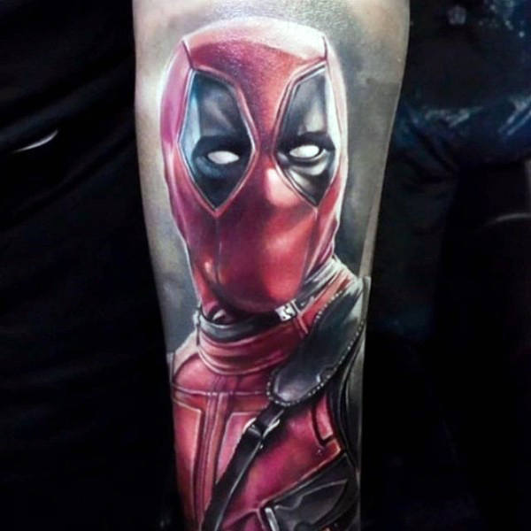 70 Deadpool Tattoo Designs für Männer - Superhelden-Tinte Ideen