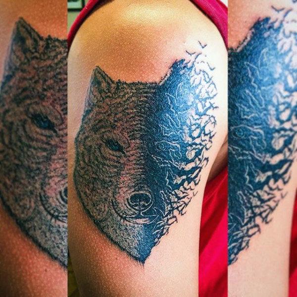 50 Fledermaus Tattoo Designs für Männer - Manly Nocturnal Design-Ideen