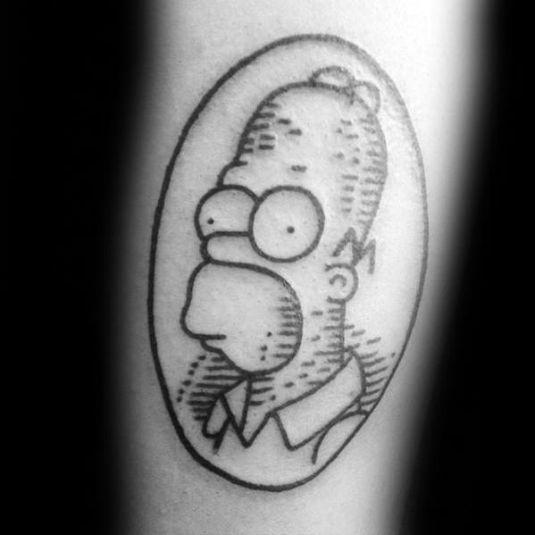 7437f7e07 50 Homer Simpson Tattoo Designs für Männer - Die Simpsons Ink Ideen ...