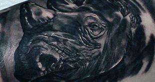 90 Rhino Tattoo Designs für Männer - Cool Rhinoceros Ink Ideen