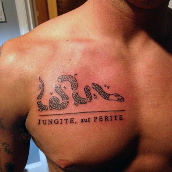 40 Beitreten oder sterben Tattoo Designs für Männer - heftige Snake Ink Ideen