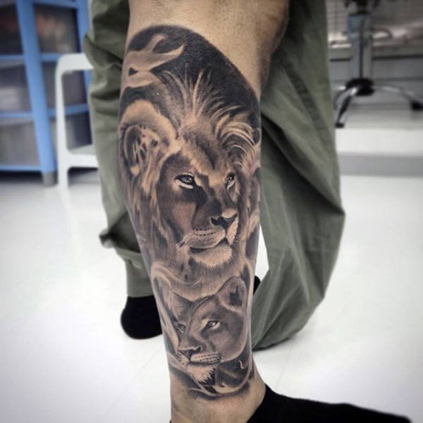 85 Löwe-Tätowierungen für Männer - ein Dschungel der großen Katzen-Entwürfe