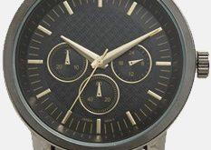 Herren Accutime Lederband Uhr