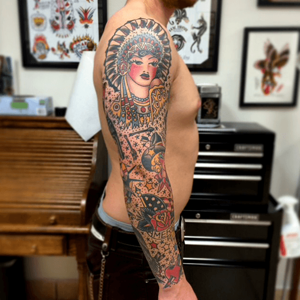 60 Traditionelle Tattoo Ärmel Designs für Männer - Old School Ink Ideen